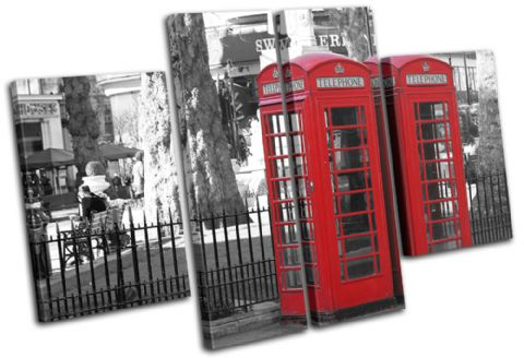London Telephone Box Landmarks - 13-1262(00B)-MP17-LO